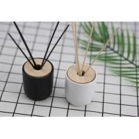 Simple Style Home Reed Diffuser Matte Painting Round Glass Bottle With Oem Service Manufactures