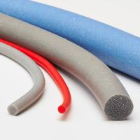 Low Hardness Silicone Foam Strip , Extruded Silicone Foam Sealing Strip Manufactures