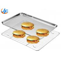 Aluminium Cookie Sheet Pan And Stainless Steel Cooling Rack Set Oven Safe Pan Manufactures