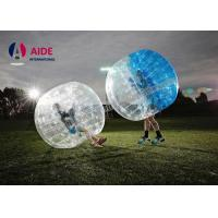 China Water Walking Floating Roller Body Zorb Ball For Pool Games , Clear Inflatable Ball on sale
