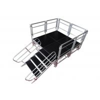 Safety Aluminum Stage Platform / Stable Aluminum Stage Deck With Guardrail Manufactures