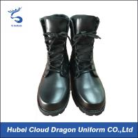 High Ankle Leather Jungle Military Combat Boots Waterproof Black Color Manufactures