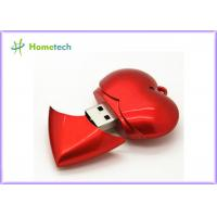 China Plastic Red Heart USB Flash Memory USB Device Full Capacity 1GB / 2GB / 4GB on sale