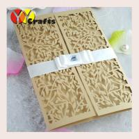 laser cut wedding invitation card folded gate simple add logo for free Manufactures