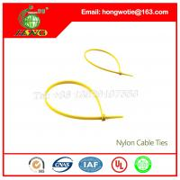 Buy cheap 7.6x300mm Black nylon66 material Self-Locking plastic wire cable tie straps from wholesalers