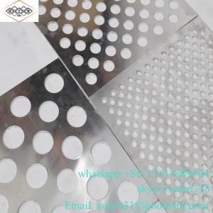 China 1mm round hole aluminum powder coating perforated metal panel on sale