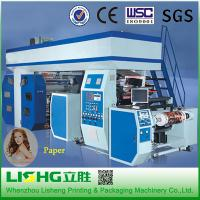 China Chamber Doctor Blade 6 Colour Flexo Printing Machine Gears Transmission on sale