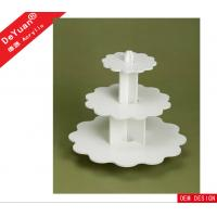 3 Tiers Acrylic White Display Stands For Celebration Party , OEM Design Manufactures