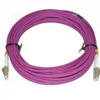PVC Material Fiber Optic Patch Cord 10 Meter Length LC DX MM 2.0 Diameter For CATV Manufactures