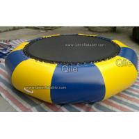 Customized 0.9mm PVC Inflatable Floating Trampoline For Kids Games Manufactures