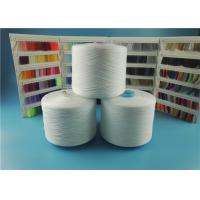 Plastic Cone Spun Polyester Yarn White 100% Pure Virgin Sewing Use Manufactures