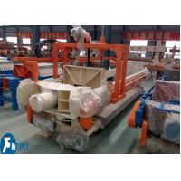 China 100m2 Industrial Filter Press Fully Automatic Controlled With Filter Cloths Washing Device on sale