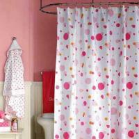 Shower Curtain, Available in Various Colors and Designs