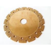 China 6 Inch Electroplated Corrugated Teeth Dry Cut Diamond Blade For Granite And Sandstone on sale