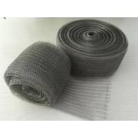 98% Efficiency Stainless Steel Knitted Wire Mesh Demister Pad Flat / Corrugated Surface Manufactures