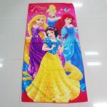 Colorful Solid Print Microfiber Beach Towels , Kids Bath Towels Overlock Edge Manufactures