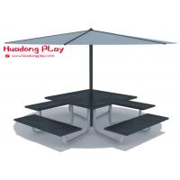 China Beautiful Black Cast Iron Garden Bench Multi Seat For  Playground Public Area on sale
