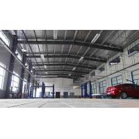 China Metal Frame Garage Steel Building Construction With Steel Cladding Sheet Wall / Roof on sale