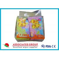 Scent Free Wet Wipe Tissues Carry - On Mini Packag WaterSaving 8PCS * 10 Bags Manufactures