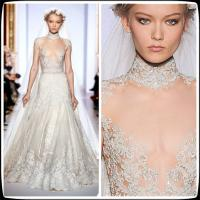 2014 Vintage Zuhair Murad Plus Size Designer Wedding Gowns High Neck Lace A Line Manufactures