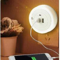 Soft Light 1 Watt Automatic Sensor Night Lamp With Dual USB Wall Plate Charger Manufactures