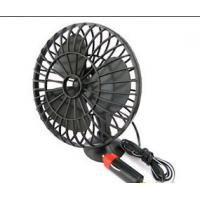 Mini Black Plactic Vehicle Cooling Fans Dc 12v Portable 4 Inch With Adsorption