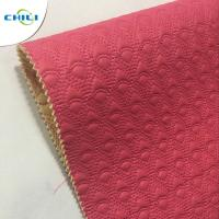 Bulk Fake Quilted Leather Fabric Vinyl Material High Strength Wear Resistant Manufactures