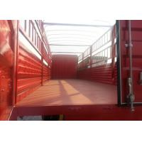 Three Axles Cow Transport Truck, 10 Wheels Horse Cattle Truck RHD Driving Steering Manufactures
