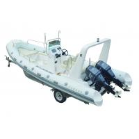 Small Inflatable Boats 6.8 Meter Luxury Yacht With Hypalon Tube Fiberglass Hull Twin Motors
