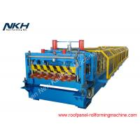 China Metal Roof Glazed Tile Roll Forming Machine , Roof Tile Manufacturing Machine on sale