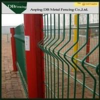 High Strength Curvy Welded Wire Fence , Plastic Coated Wire Mesh Fencing Manufactures