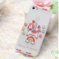 Colorful Carton Horse Leather Skin On Phone Back Case Cover Plastic Case Manufactures