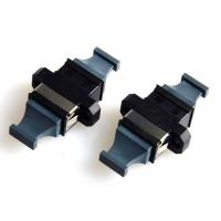 MPO MTP Flange Fiber Optic Adapter Black Bare Fiber Adapter APC Polished Manufactures
