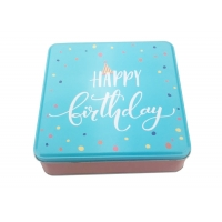 China Square Shape Cookie Tin Box Suppliers and Manufacturers from Dongguan City on sale