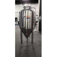 SUS 304 300 L Beer Brewing Fermenter , Cylindrical Fermenter With Cooling Jacket Manufactures