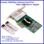 1G quad ports fiber optical network card server application network adapter Manufactures