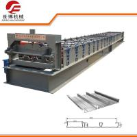 PLC Computer Control Sheet Metal Roll Forming Machines For Floor Deck Making Manufactures