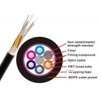 Quality Non Metallic GYFTY Fiber Optic Armoured Cable G652D 12 24 30 48 Core PE HDPE G657A2 for sale