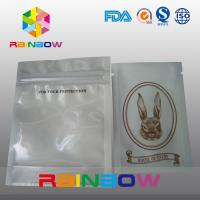 China Customized Logo Transparent Front Poly Zipper Bag For Electronic Packing on sale