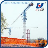 55m Boom&1.0t Tip Load 6ton Tower Crane Manufactures