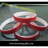 Hot Sale Double Sided Custom Cheap Silicon Bracelet Silicone wristband For Gift Manufactures