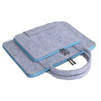 China Felt 14 - 17 Inch Laptop Sleeve Bag Briefcase With Front Pocket / Top Carry Handle on sale