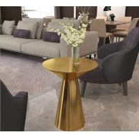 Contemporary design Round Gold stainless steel High Bistro table Pub table for hotel Club Cafe Manufactures