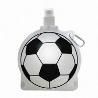 Football Ball-shaped Drink Water Bottle with Carabiner Hooks Manufactures
