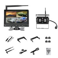 China 12V or 24V night vision Truck wireless rear view camera Trailer reversing camera system 7in LCD monitor on sale