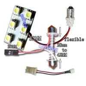 12V / 24V 6 Flux 42mm 100% Safe White LED Car Dome Lights for Reading Manufactures