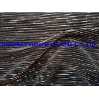 Polyester Knit Dobby Crinkle Foil Print Manufactures
