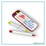 plastic combo pen set, ball pen, highlighter ,mechanical pencil, pen box set Manufactures