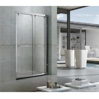 Bright Stainless Steel Profiles Sliding Shower Doors With Double Nano Clear Glass for Hotel Manufactures
