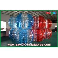Red And Blue PVC / TPU Bumper Ball Bubble Football For Adult / Children Playing Manufactures